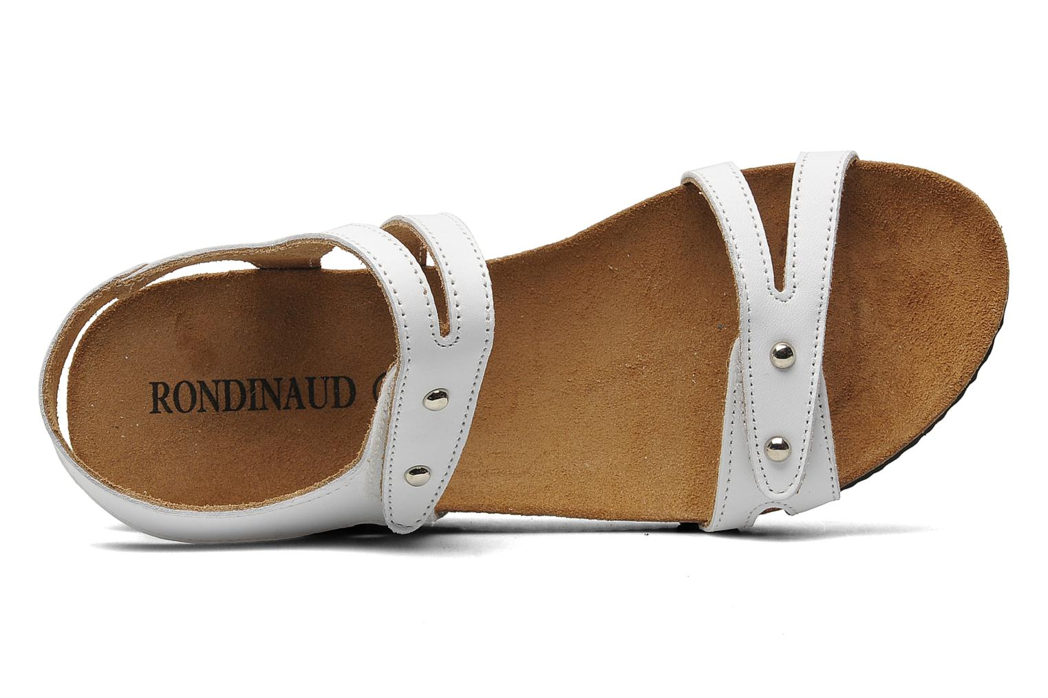Sandals Rondinaud Falleron White view from the left