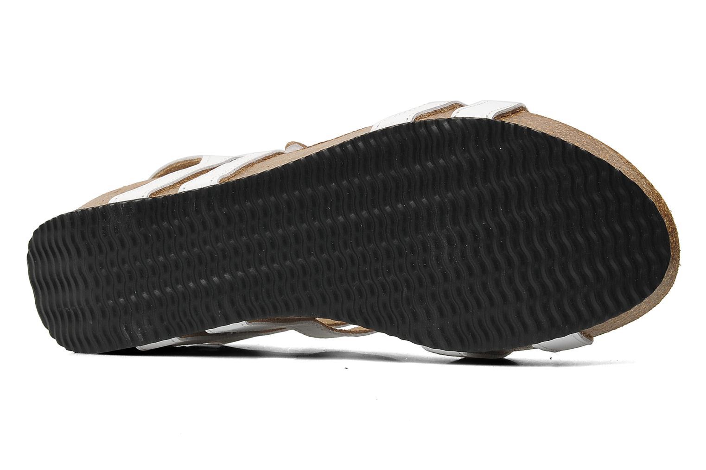 Sandales et nu-pieds Rondinaud Falleron Blanc vue haut