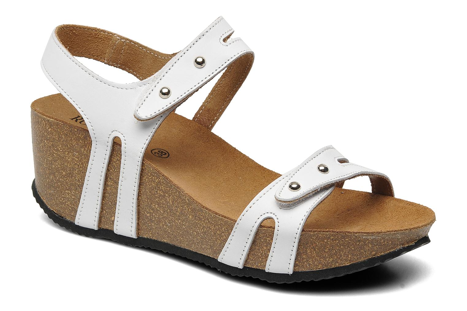 Sandals Rondinaud Falleron White detailed view/ Pair view