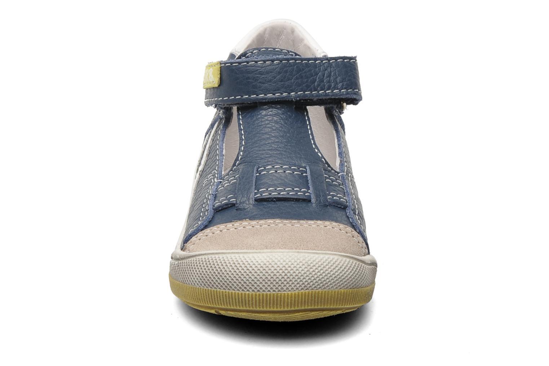 Skor med kardborrband Bopy BESSAT Blå bild av skorna på