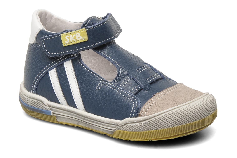 Velcro shoes Bopy BESSAT Blue detailed view/ Pair view