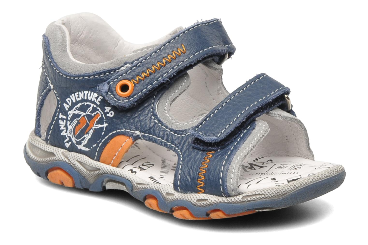 Sandals Bopy BOMBO Blue detailed view/ Pair view