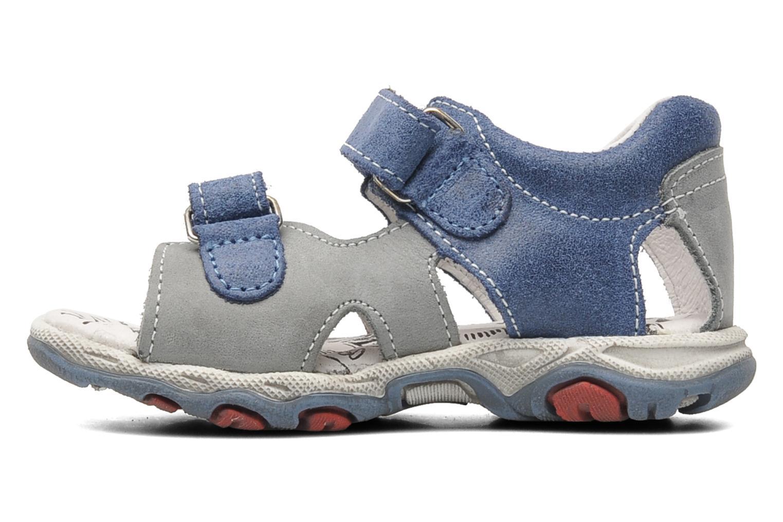 Sandales et nu-pieds Bopy BROC Bleu vue face