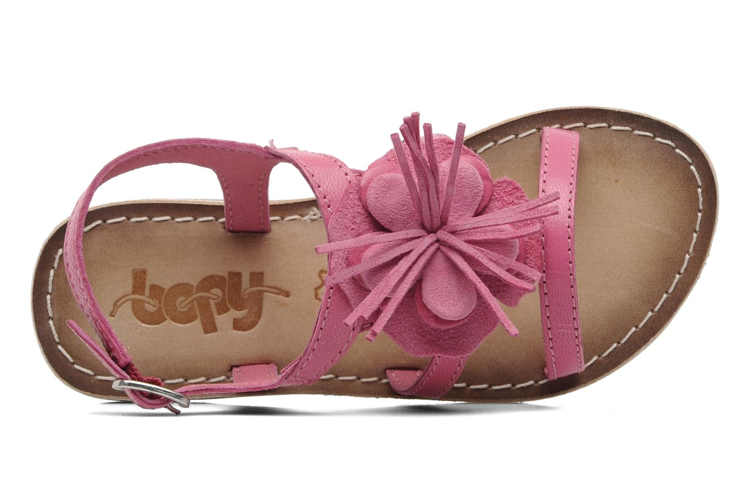Sandals Bopy FERIDA Pink view from the left