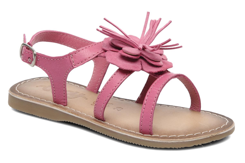 Sandaler Bopy FERIDA Pink detaljeret billede af skoene