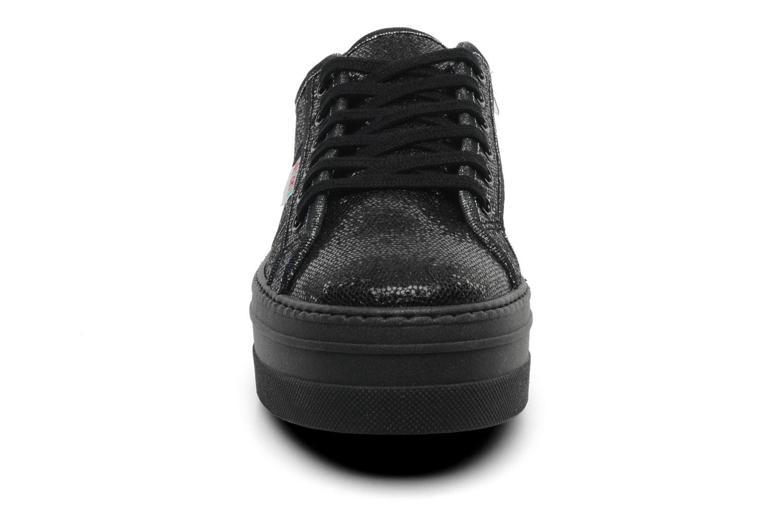 Sneaker Victoria Blucher Glitter Plataforma schwarz schuhe getragen