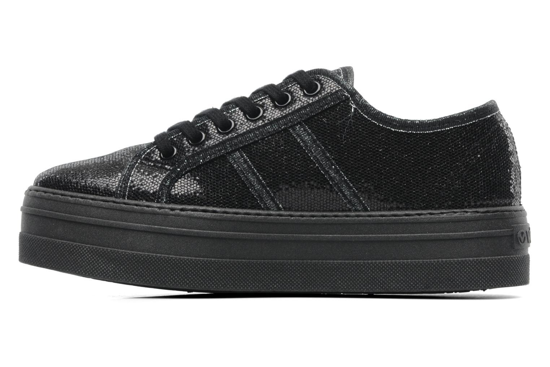Sneaker Victoria Blucher Glitter Plataforma schwarz ansicht von vorne