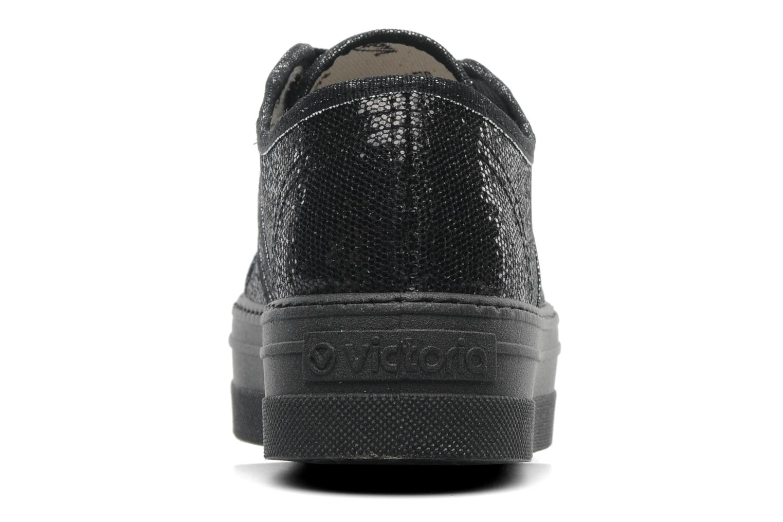 Sneaker Victoria Blucher Glitter Plataforma schwarz ansicht von rechts