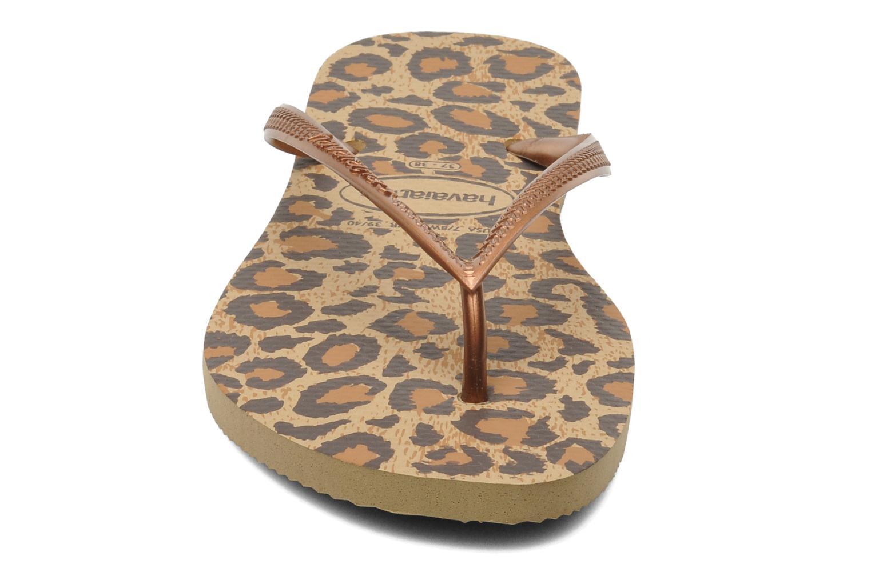Flip flops Havaianas Slim Animals Brun bild av skorna på