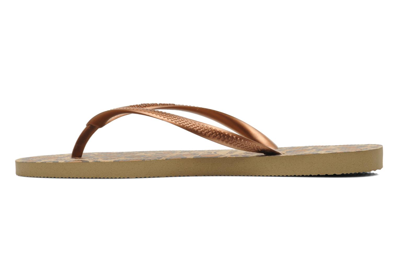 Slippers Havaianas Slim Animals Bruin voorkant