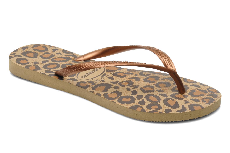 Slippers Havaianas Slim Animals Bruin detail