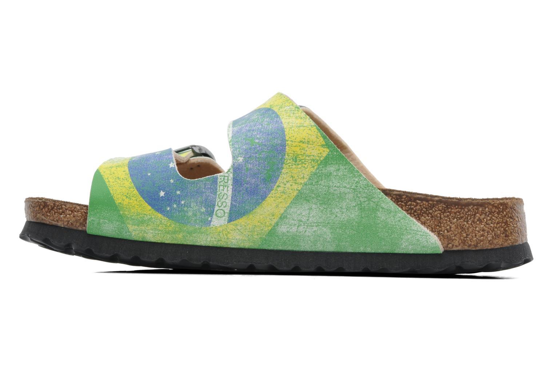 Sandaler Birki's Santiago Flor M Grön bild från framsidan