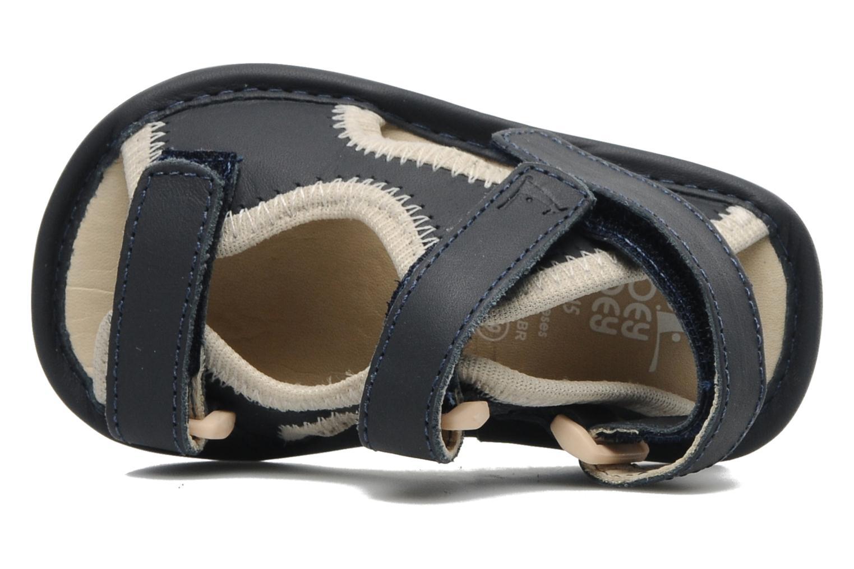 Sandalias Tip Toey Joey SLINKY Azul vista lateral izquierda