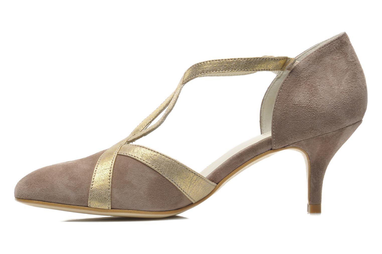 Zapatos de tacón Georgia Rose Titine Beige vista de frente