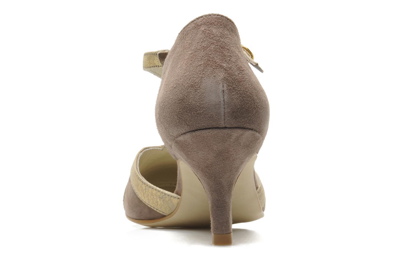 Zapatos de tacón Georgia Rose Titine Beige vista lateral derecha