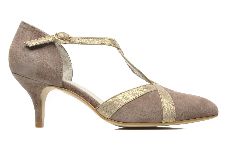 Zapatos de tacón Georgia Rose Titine Beige vistra trasera