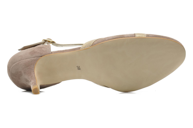 Zapatos de tacón Georgia Rose Titine Beige vista de arriba