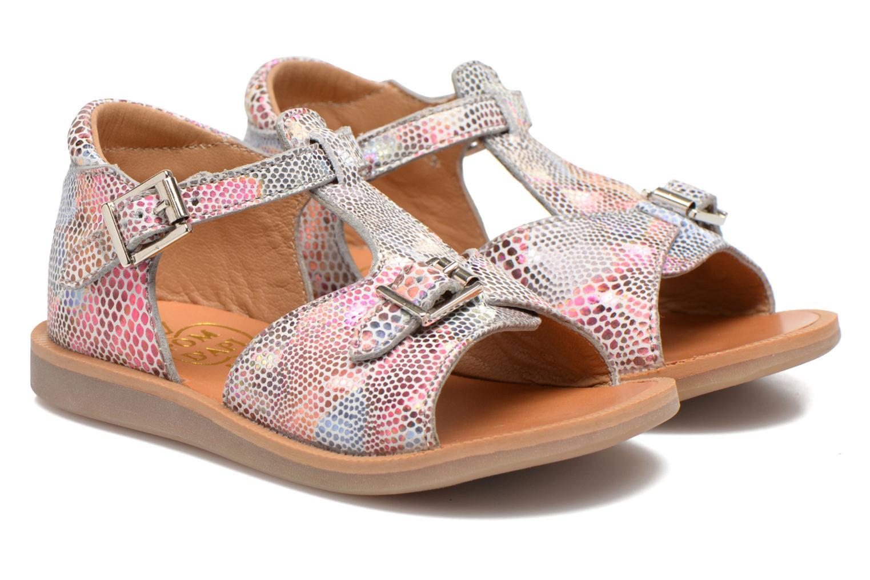 Sandali e scarpe aperte Pom d Api POPPY BUCKLE Multicolore immagine 3/4