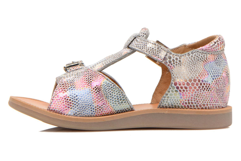 Sandales et nu-pieds Pom d Api POPPY BUCKLE Multicolore vue face