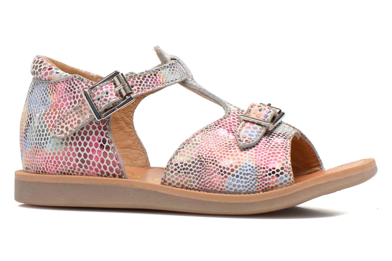 Sandales et nu-pieds Pom d Api POPPY BUCKLE Multicolore vue derrière