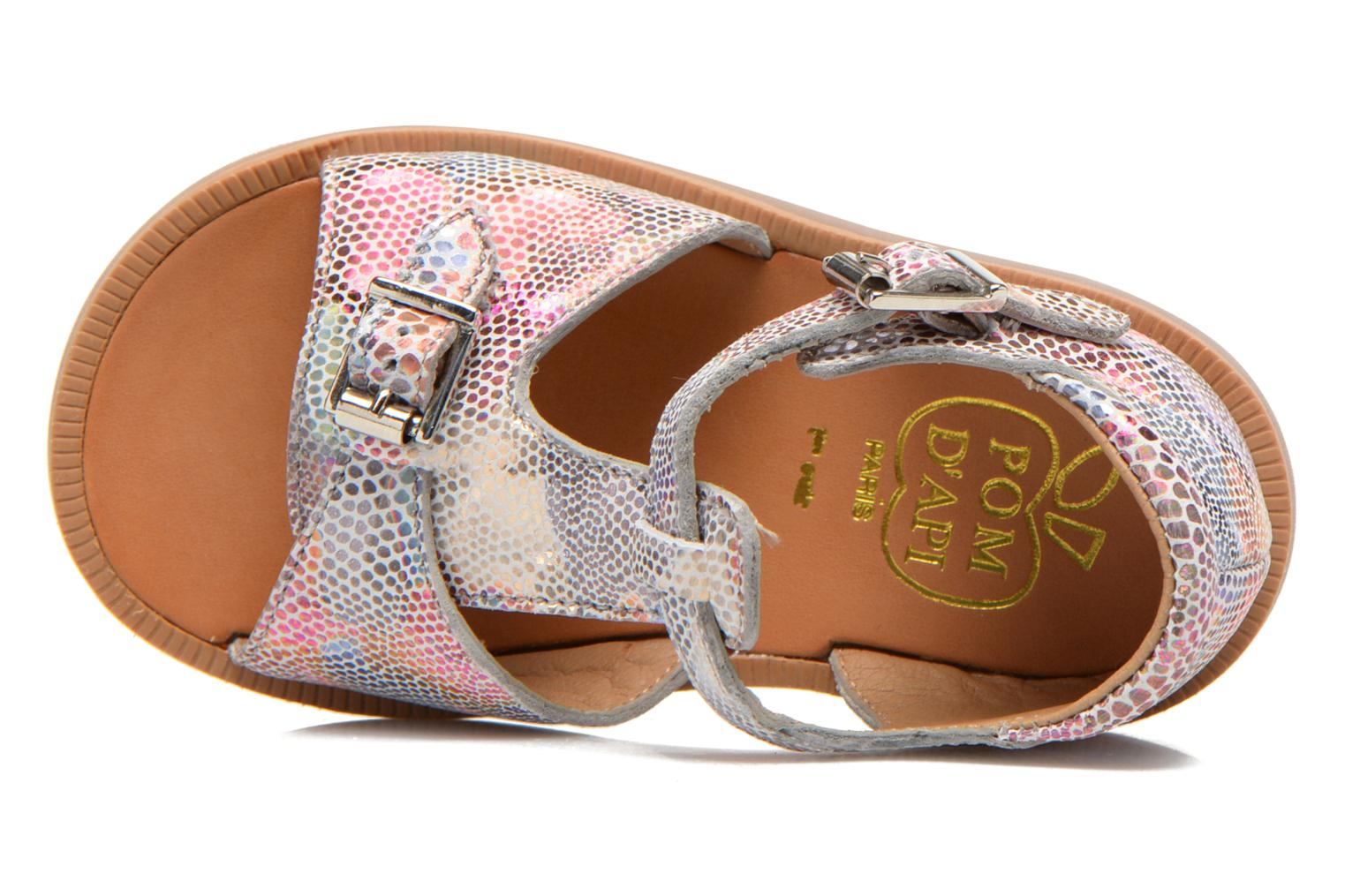 Sandals Pom d Api POPPY BUCKLE Multicolor view from the left