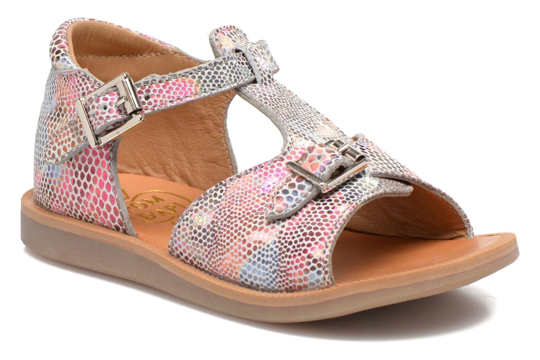Sandales et nu-pieds Pom d Api POPPY BUCKLE Multicolore vue détail/paire