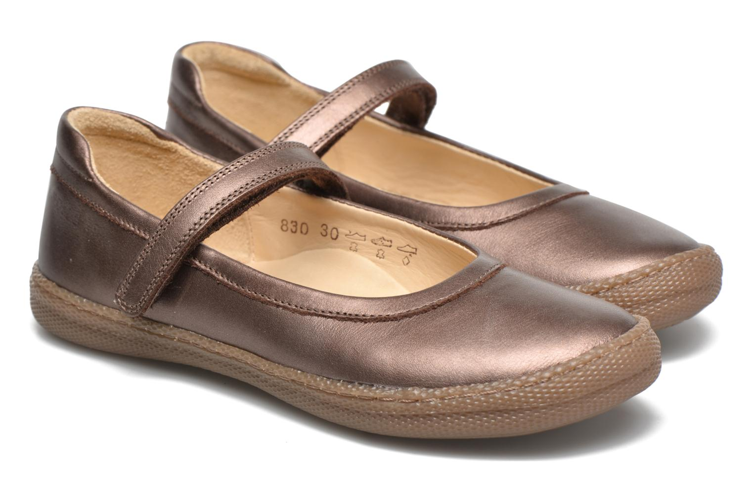 Ballet pumps Pom d Api NEW SCHOOL BABY Bronze and Gold 3/4 view