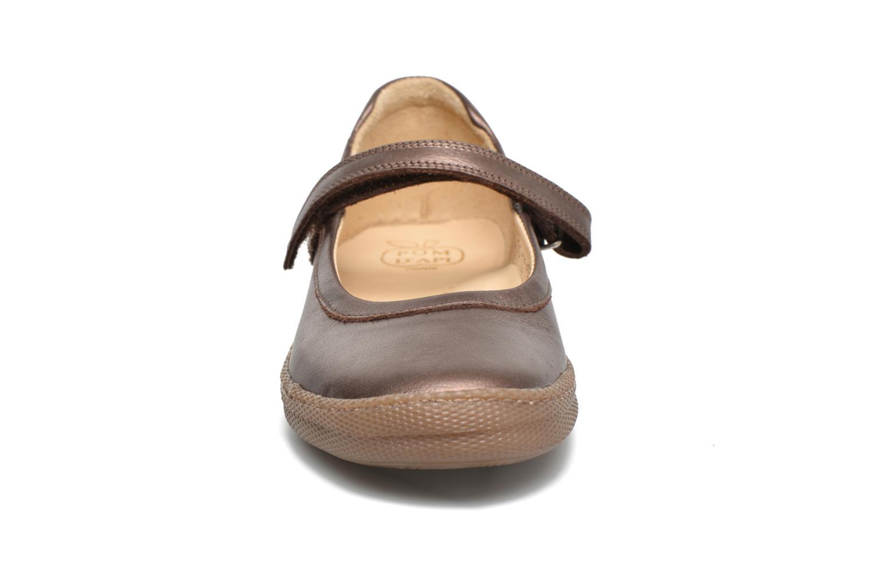 Ballerines Pom d Api NEW SCHOOL BABY Or et bronze vue portées chaussures