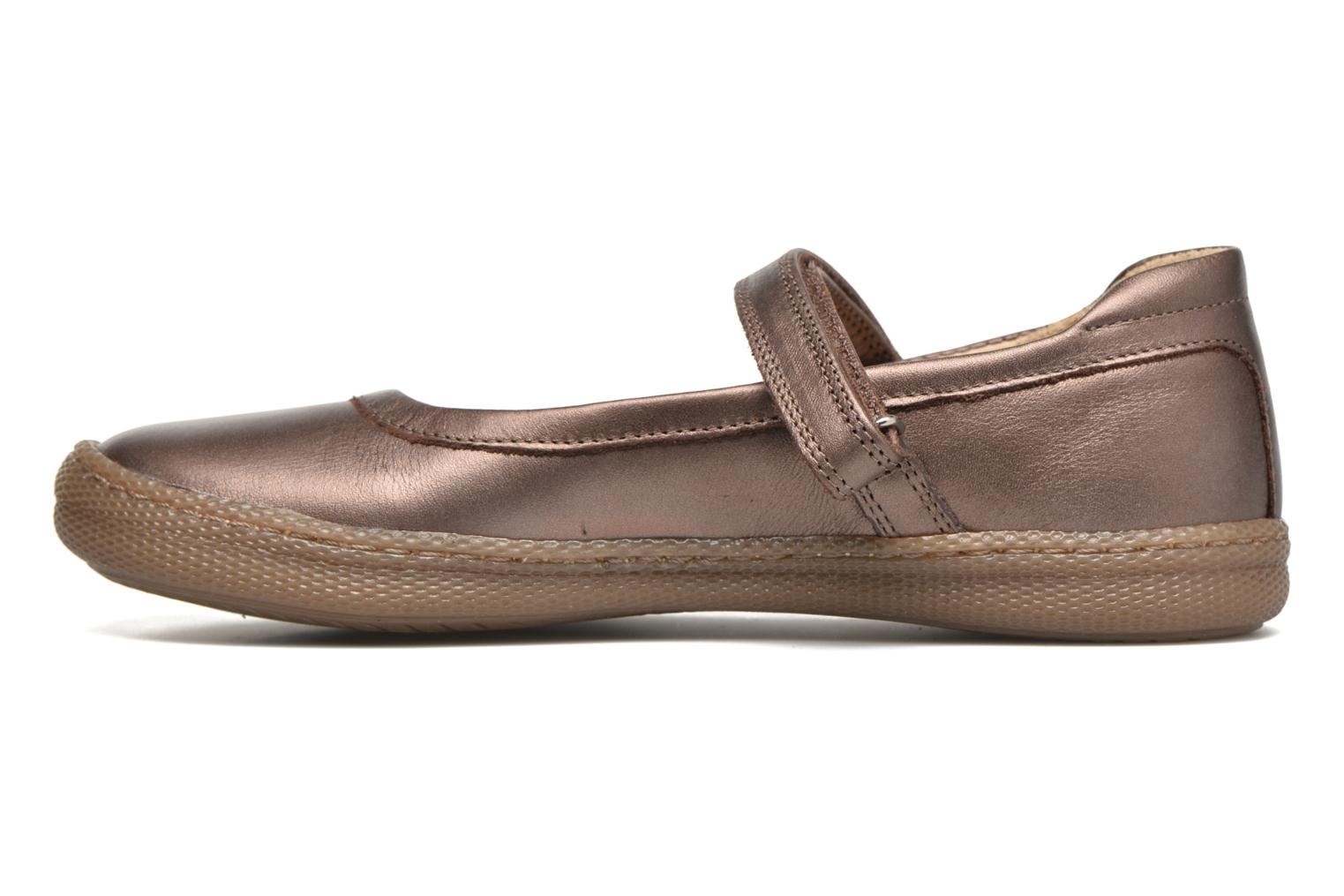 Ballet pumps Pom d Api NEW SCHOOL BABY Bronze and Gold front view
