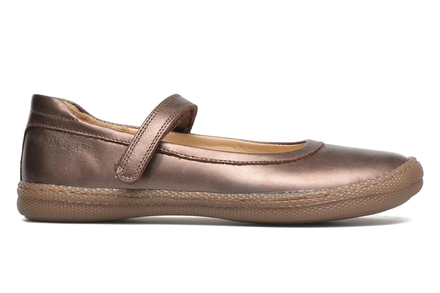 Ballet pumps Pom d Api NEW SCHOOL BABY Bronze and Gold back view