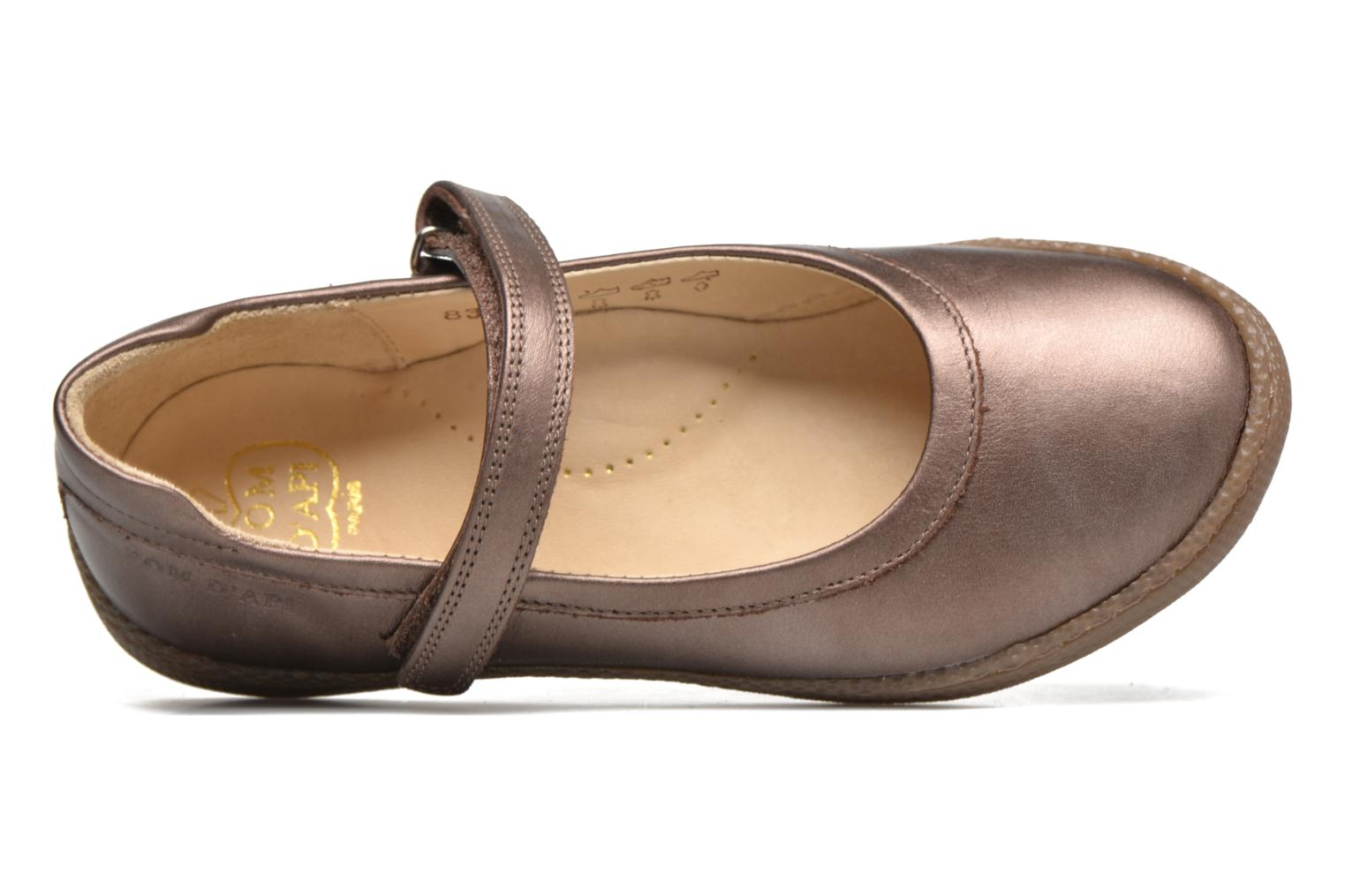 Ballet pumps Pom d Api NEW SCHOOL BABY Bronze and Gold view from the left