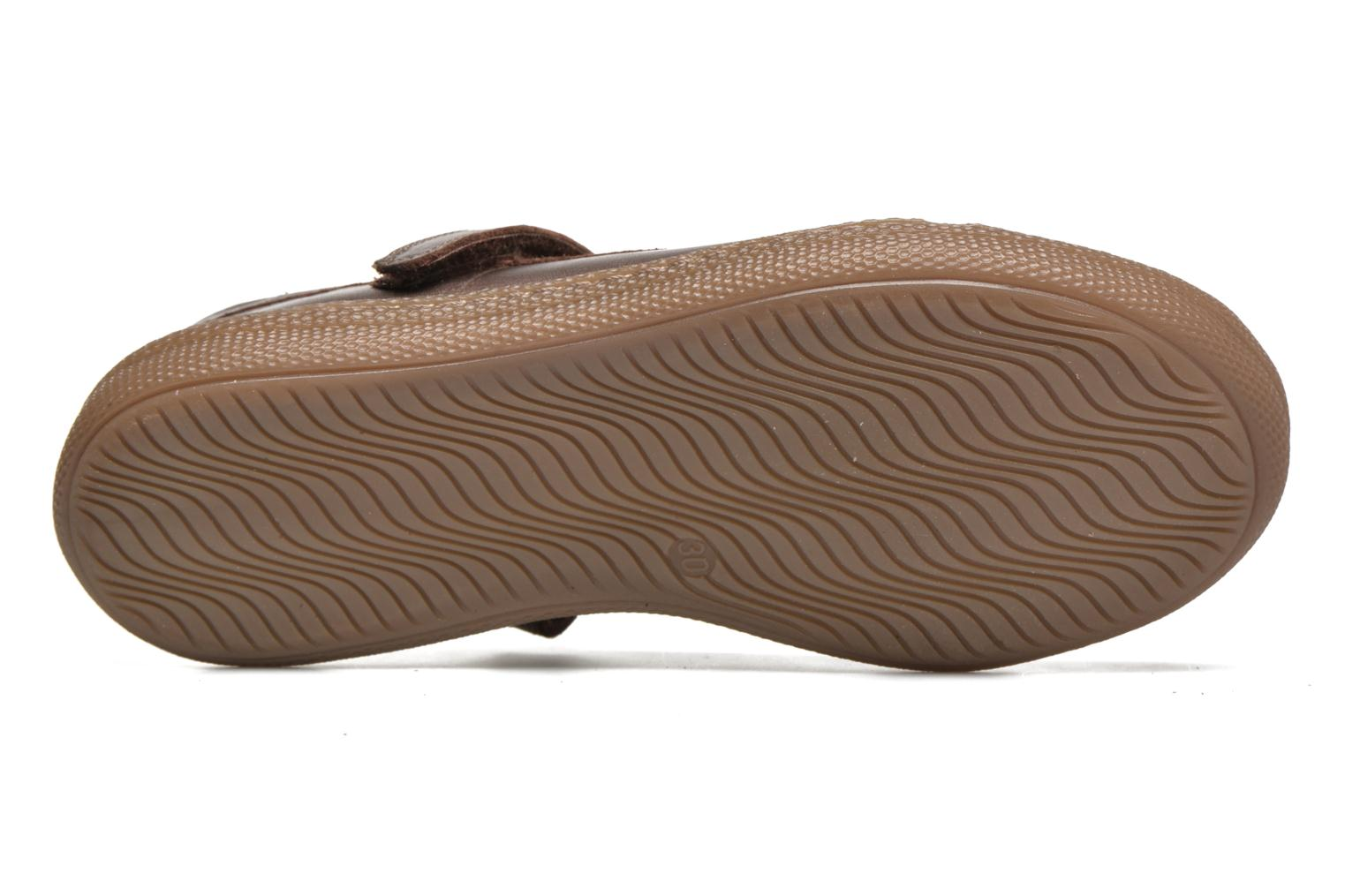 Ballet pumps Pom d Api NEW SCHOOL BABY Bronze and Gold view from above