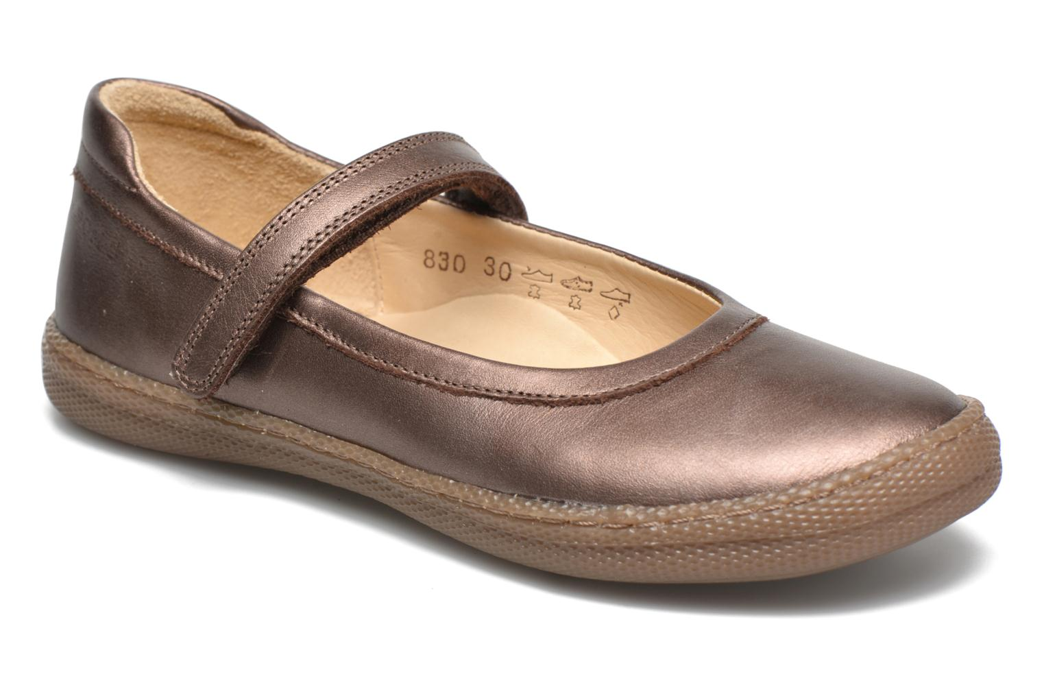 Ballet pumps Pom d Api NEW SCHOOL BABY Bronze and Gold detailed view/ Pair view