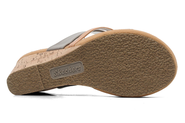 Clogs & Pantoletten Skechers Modiste 38332 grau ansicht von oben