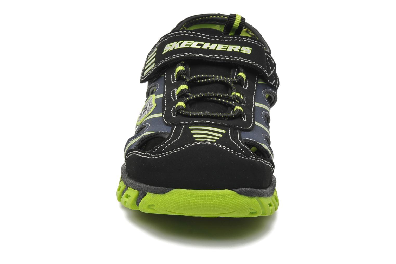 Sandales et nu-pieds Skechers Pillar Sandal Noir vue portées chaussures