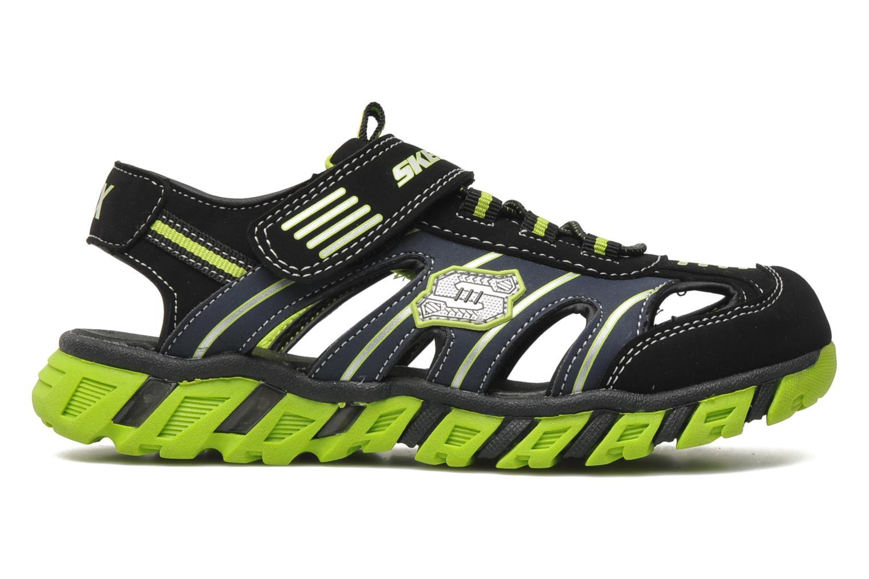 Sandales et nu-pieds Skechers Pillar Sandal Noir vue derrière