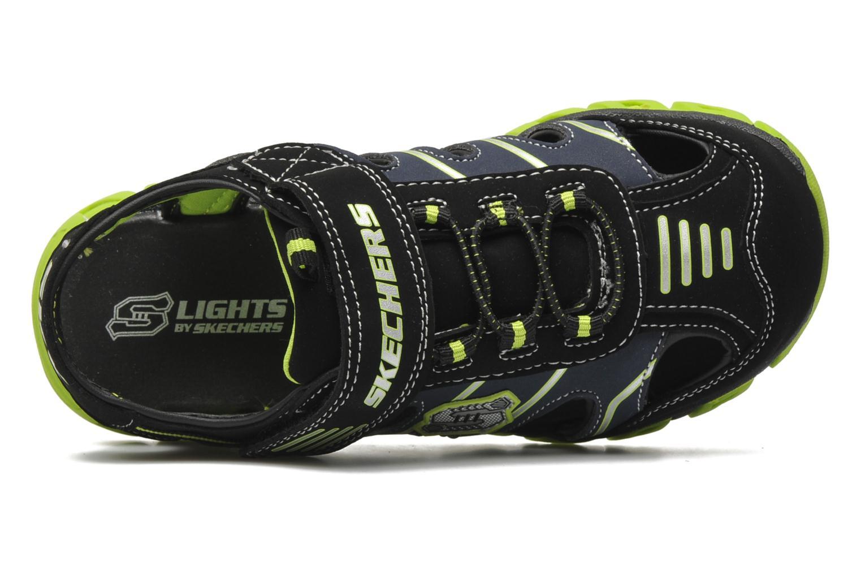 Sandales et nu-pieds Skechers Pillar Sandal Noir vue gauche