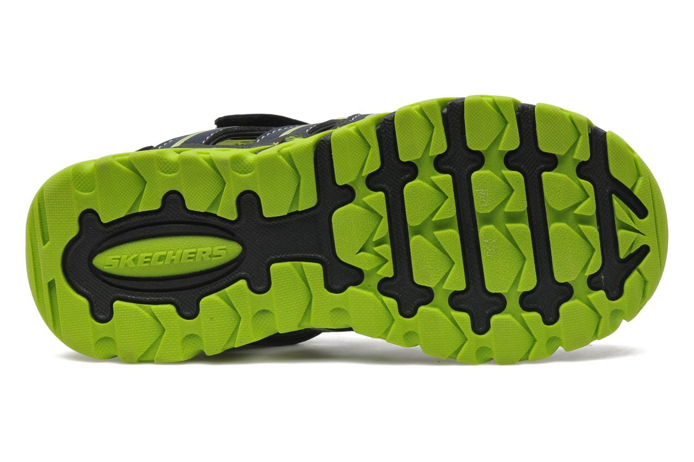 Sandales et nu-pieds Skechers Pillar Sandal Noir vue haut