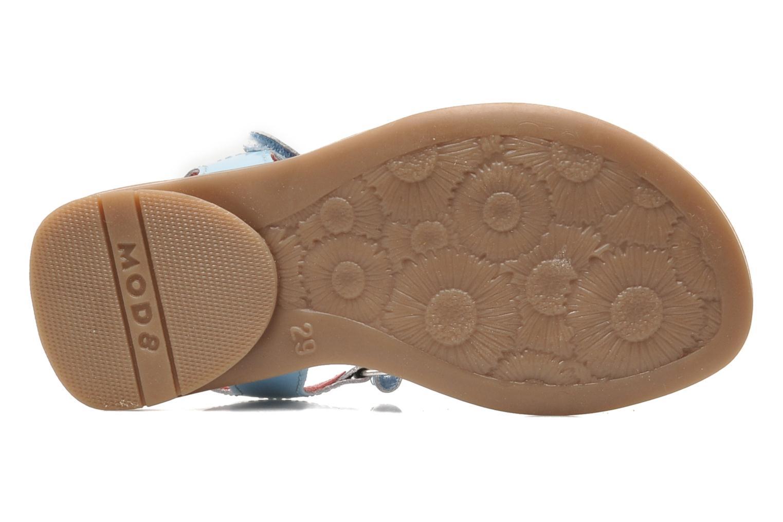 Sandales et nu-pieds Mod8 JALUME Bleu vue haut