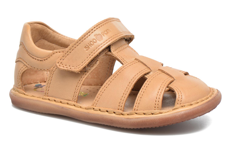Sandales et nu-pieds Shoo Pom Crespin Tonton Marron vue détail/paire