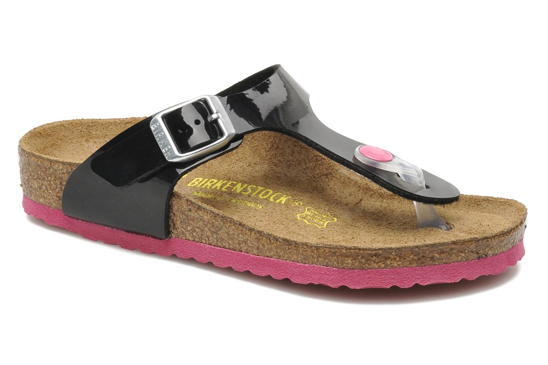 Flip flops & klipklapper Birkenstock Gizeh Birko-Flor Sort detaljeret billede af skoene