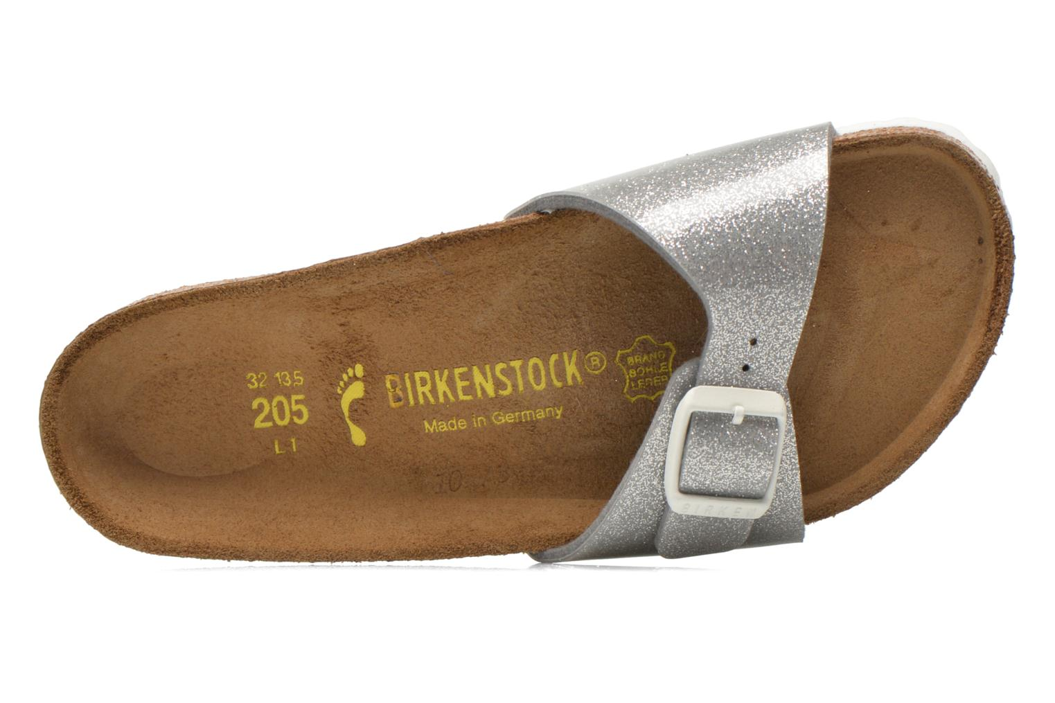 Sandals Birkenstock Madrid Birko Flor Silver view from the left