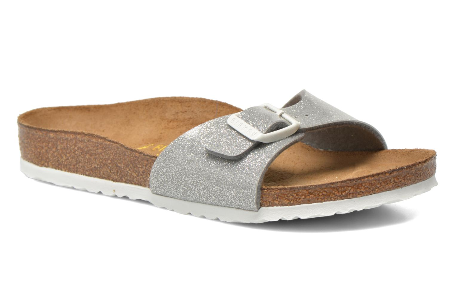 Sandals Birkenstock Madrid Birko Flor Silver detailed view/ Pair view
