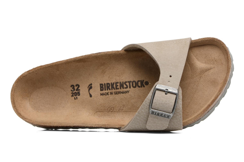 Sandalias Birkenstock Madrid Birko Flor Beige vista lateral izquierda