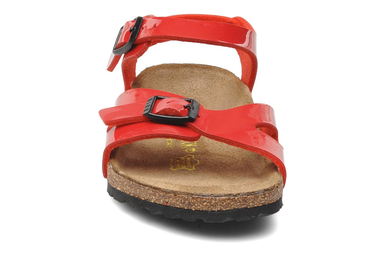 Sandales et nu-pieds Birkenstock Rio Birko Flor Rouge vue portées chaussures