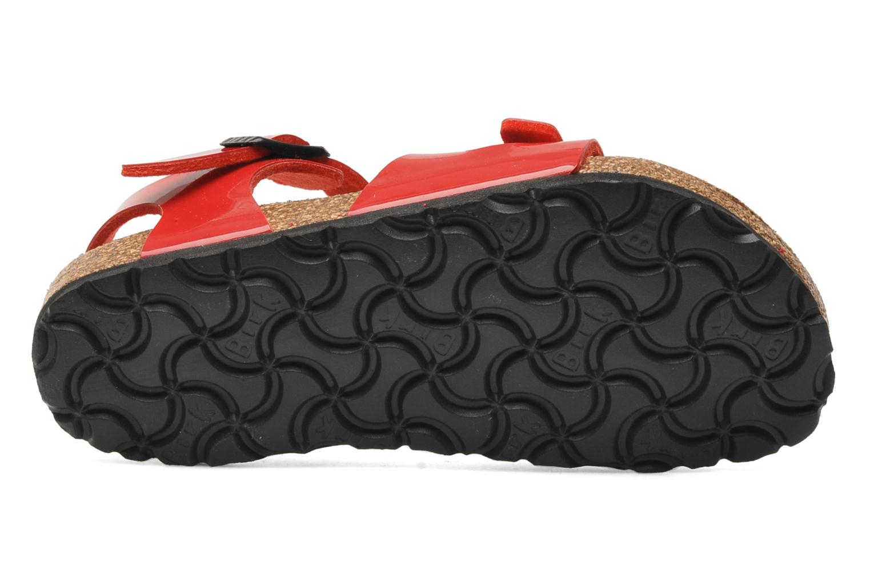 Sandales et nu-pieds Birkenstock Rio Birko Flor Rouge vue haut