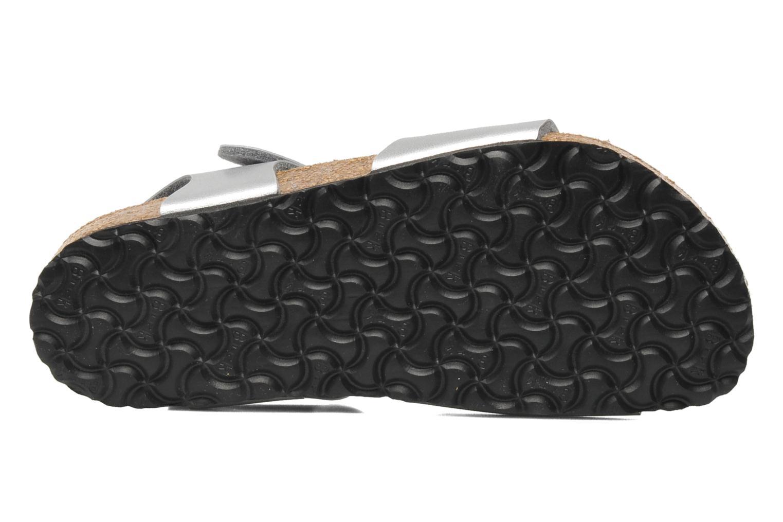 Sandales et nu-pieds Birkenstock Rio Birko Flor Argent vue haut