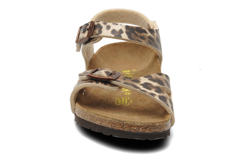 Sandals Birkenstock Rio Birko Flor Brown model view