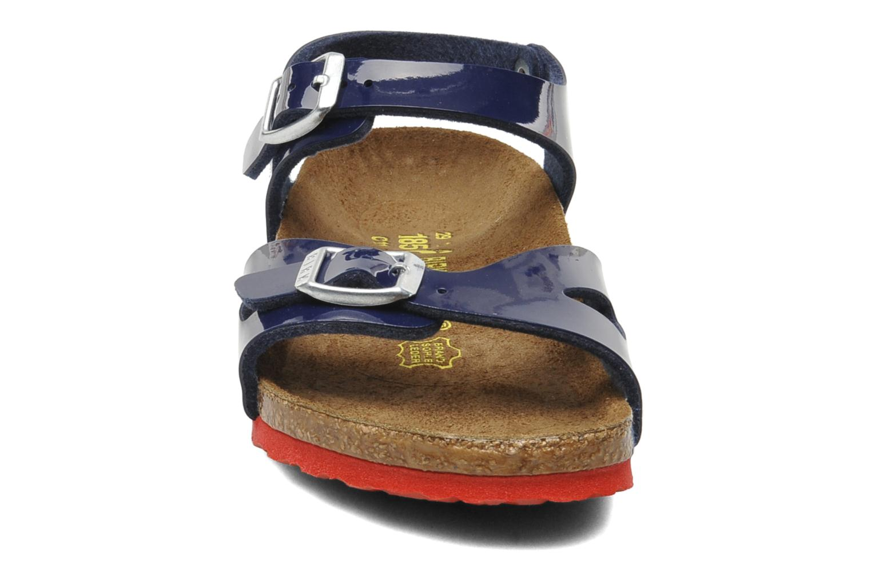 Sandales et nu-pieds Birkenstock Rio Birko Flor Bleu vue portées chaussures