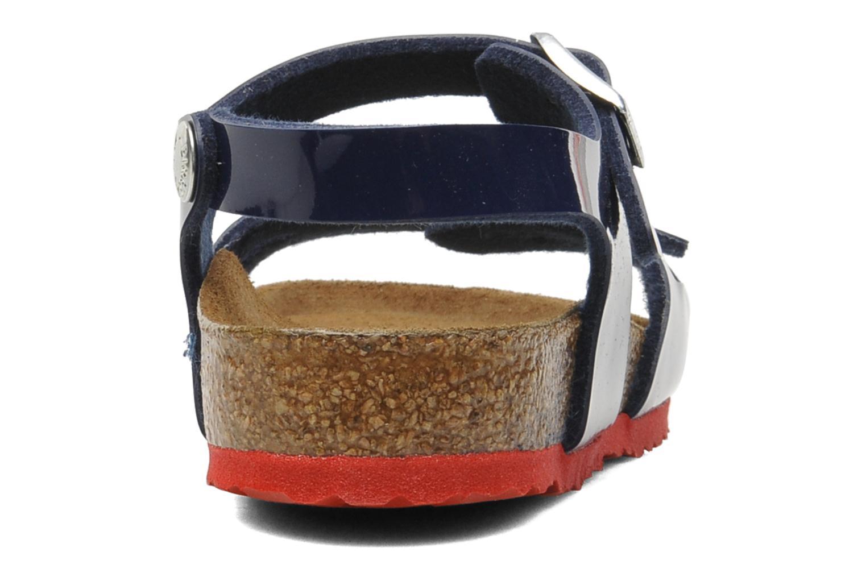 Sandales et nu-pieds Birkenstock Rio Birko Flor Bleu vue droite